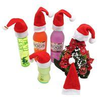 mini santa hats for bottle decoration