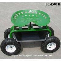 Tractor Style Garden Seat Cart On Wheels TC4501B thumbnail image