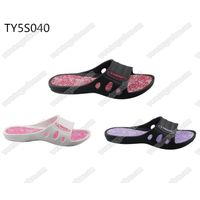 trend fancy fashion printing sole ladies bath & pool sandals