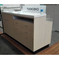 Timber checkout table & cash counter in stores