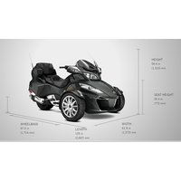 New 2017 CAN-AM SPYDER RT LIMITED ATV