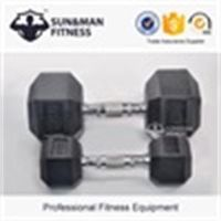 olympic hex rubber dumbbell