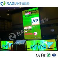 Radiant P4.0 wholesale flexible soft HD full color shaped circular LED screen for Tv studio