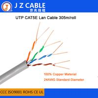 305M 100%Copper UTP CAT5e Lan Cable,UTP CAT5e networking cable