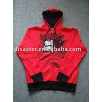 Men's hoodie,Zipper-Up ,Breathable, Eco-Friendly
