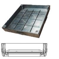 Galvanized steel recessed cover