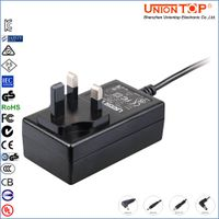UK approved AC DC power adapter 12v 1.5a with UL CE FCC