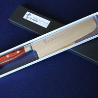 Japanese Nakiri VG10 Damascus Kitchen Knife #07393 thumbnail image