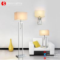 factory wholesale 201/304 stainless steel floor lamp with led reading lights for hotel guest rooms