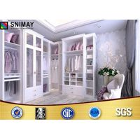 MDF Board Furniture Modern Bedroom Wardrobes  with Sliding Doors Customized