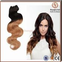 Hot Sell Wholesale Price Remy Hair Colored Two Tone Ombre Hair Weaves