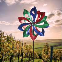 Colorful Sickle Shaped Win Wind Spinner thumbnail image