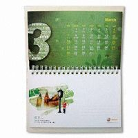 2012 promotional table/desk calendars printing service