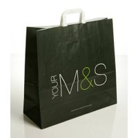 Flat handle paper carrier bags (XH-006)