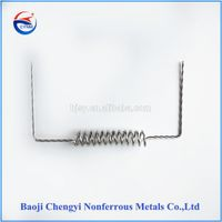 Refractory metal tungsten heating elements