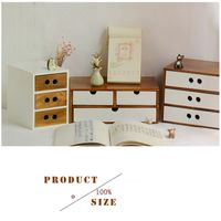 Wooden Box Cosmetic Drawer Makeup Organizer Case Storage the Insert Holder Box,Jewelry Stationery St