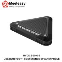 Meeteasy MVOICE-3000-B USB/Bluetooth conference speakerphone microphone speaker