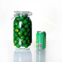 glass storage jars with lids