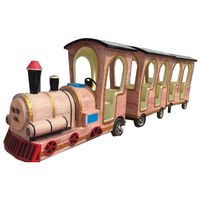 Cartoon kiddie ride on train ride for kids