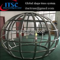Global-shaped lighting trusses system