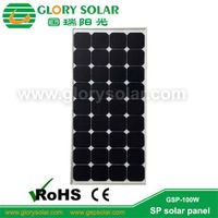 100w sp solar panel for RV,Golf car,Electric car,Yacht,boat,marine,tent ect thumbnail image