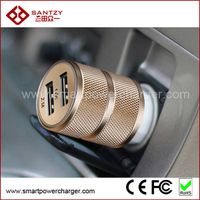 Aluminum Shell Dual USB Car Charger for Apple iPhone, Samsung etc. thumbnail image