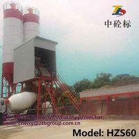 HZS60 concrete batching plant and Concrete Batching Plant Parts