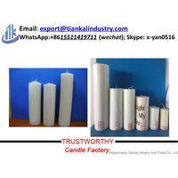 Decoration Flameless White Pillar Candle thumbnail image