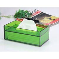 1 Piece Acrylic Tissue Box High-end Fashion Natural Environmental Pumping Paper Box