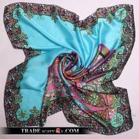 High Quality Fashion Pure Silk Square Scarves Supplier - Free Shipping
