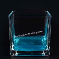 2019 Trendy Exquisite Clear Square Series Glass Candle Jar thumbnail image