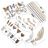 Gold Body Tattoos Stickers