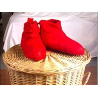 Red down shoes