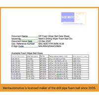 Meritautomotive is supplier of the quality foam wiper ball for wipe drill pipe or tubing string
