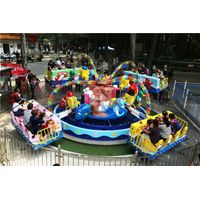 Land Amusement Park Equipment Yehua Whirling Seesaw with Water-Gun Aiming Children Adult Play
