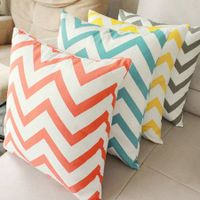 100% cotton chevron decorative pillow cover