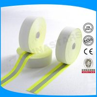 100% cotton silver 2.5cm reflective tape en471 flame retardant reflective tape thumbnail image