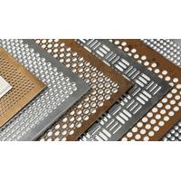 Multiple Mesh Patterns Perforated Metal Sheet, Aluminum Steel Stainless Steel