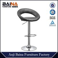china modern metal industrial eclipse leather swivel designer bar stool high chair barstool supplier