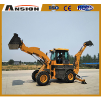 AS790 NEW product Backhoe wheel loader with excavator
