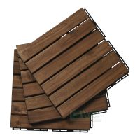 NK Vietnam Wood Interlocking Deck Tiles For Garden/Balcony
