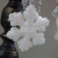 Glittering Snowflake Christmas Handicrafts Hanging Ornament Vintage Gift