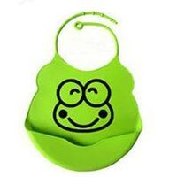 Soft waterproof silicone baby bib