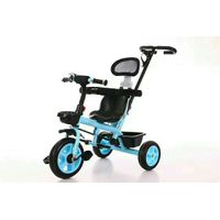 fashion modeling plastic children trike with handle kids ride three wheels bicycle thumbnail image