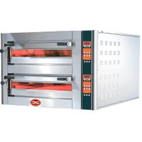 Electric twin deck pizza oven