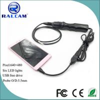 Hot selling otg mobile phone android endoscope with 5.5mm camera head 1m/2m/3.5m/5m snake tube optio thumbnail image