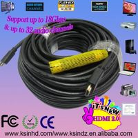 hdmi 131FT/40M cable with gold plated connectors 1.4version 1080p for ethernet HDTV 3D