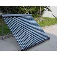 24 Vacuum Tubes Heat Pipe Solar Collector