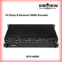 OTV-HE80 8 hdmi streaming iptv video H264 H265 srt rtmp rtsp udp hls ip encoder for facebook youtube thumbnail image