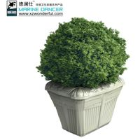 Wholesale small square planter flower pot outdoor